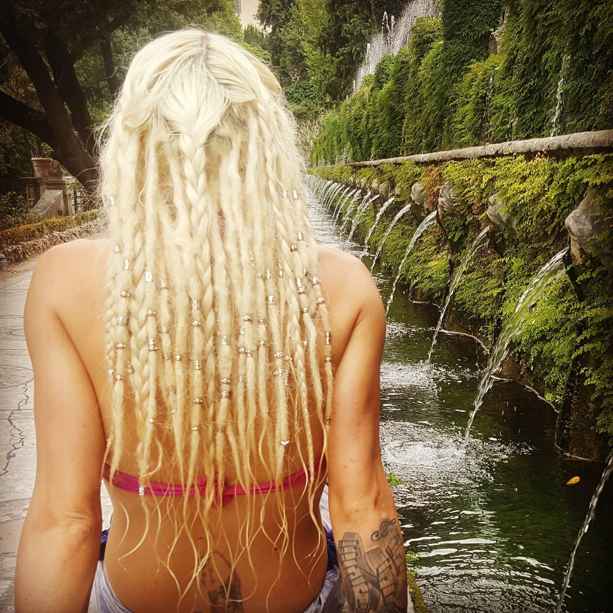 Blonde Human Hair Dreadlock Extensions