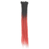Black / Red Ombre Dreadlock Extensions