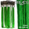green dreadlock extensions