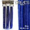 Blue dreadlock extensions