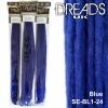Blue dreadlock extensions