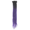 Black / Purple Ombre Dreadlock Extensions
