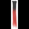 Black / Red Ombre Dreadlock Extensions