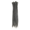 Dark grey dreadlock extensions