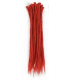 Red dreadlock extensions