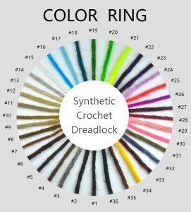 crochet synthetic dreads color ring